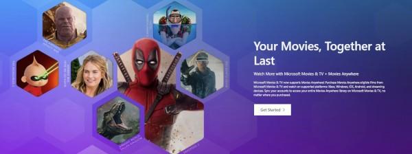 Microsoft con Movies Anywhere su Windows 10 e Xbox