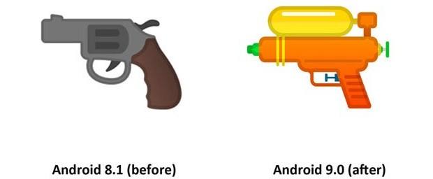 L'emoji della pistola ha subito un restyling, diventando un giocattolo