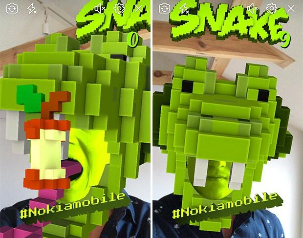 Con la fotocamera di Facebook e un pizzico di realtà aumentata ci si può trasformare in Snake, l'icona del mondo Nokia