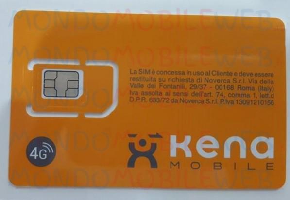 Kena Mobile, SIM con logo 4G in distribuzione