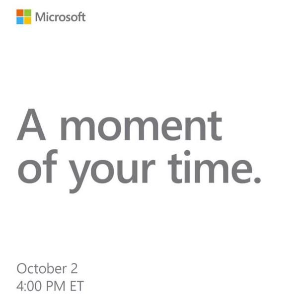 Microsoft Surface, evento il 2 ottobre