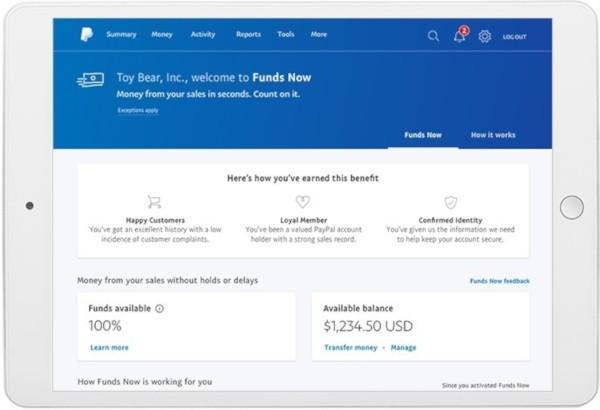 PayPal, Funds Now per aiutare le PMI