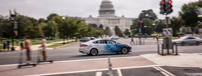 Ford, le sue self-driving car a Washington