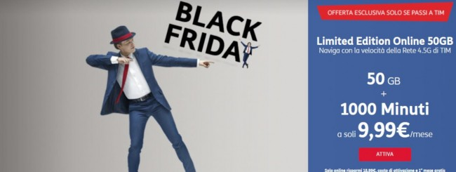 Black Friday: TIM Limited Edition Online 50 Giga