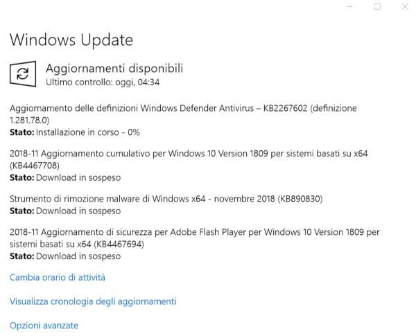 Microsoft, tanti nuovi update per Windows 10