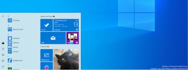 Windows 10 19H1 build 18282, arriva il tema chiaro