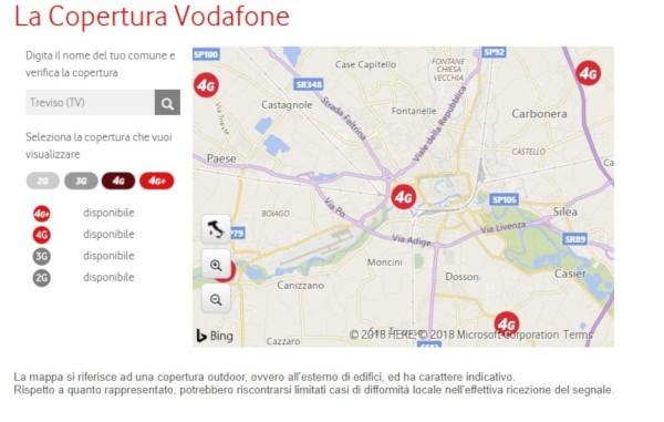 Vodafone, copertura mobile