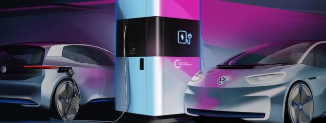 Volkswagen svela una stazione di ricarica mobile