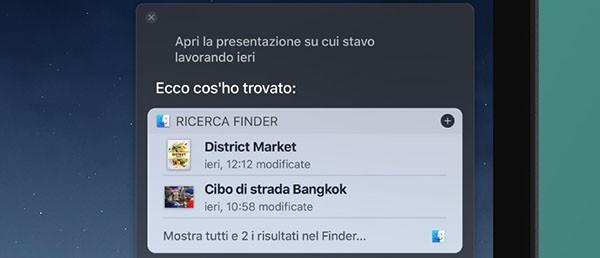 Siri, funzioni