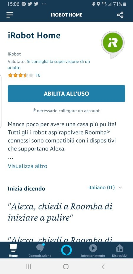 Alexa pulisce la casa con iRobot Roomba