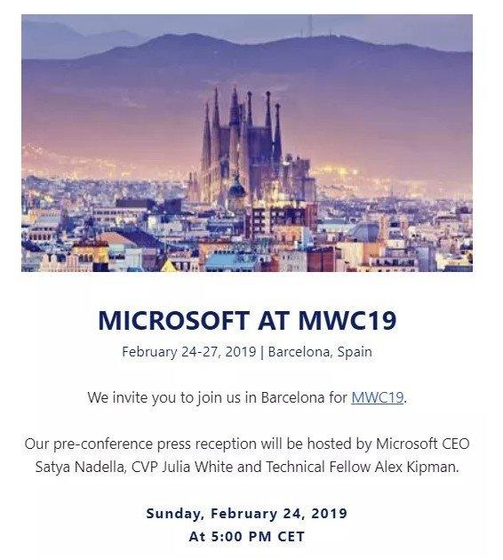 Invito Microsoft MWC 2019