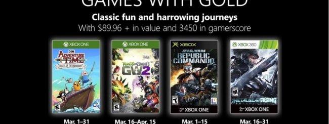 Microsoft svela i Games With Gold di marzo 2019