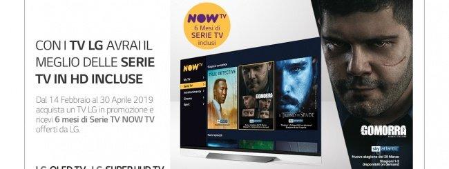 LG regala 6 mesi di Serie TV su NOW TV