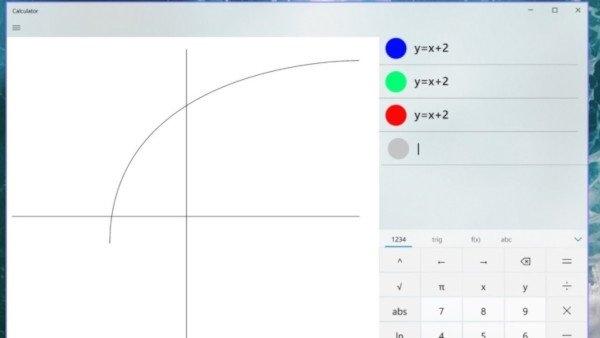 Windows 10, arrivano i grafici nella calcolatrice