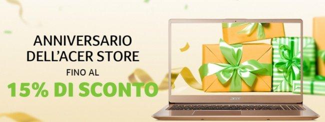 Acer Store festeggia l'anniversario con sconti