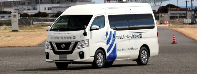 Nissan testa la tecnologia Invisible-to-Visible