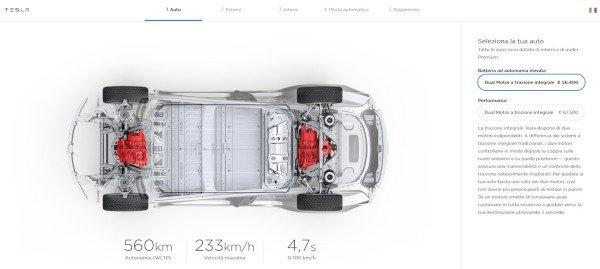 Tesla Model 3, prezzi inferiori e più opzioni