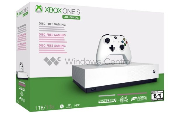 Xbox One S senza disco il 7 maggio