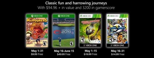 Microsoft svela i Games with Gold di maggio 2019