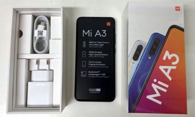 Xiaomi Mi A3 box leak