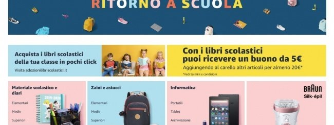Amazon, torna il Back to School