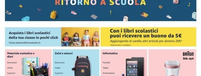 Amazon, torna il Back to School