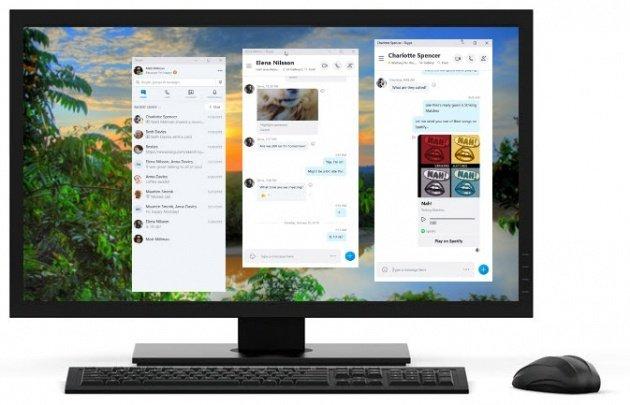 Skype slit window