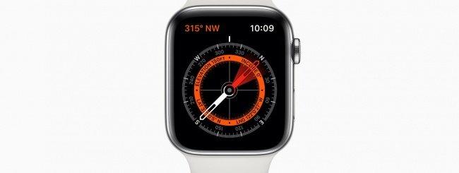 Apple Watch Series 5, bussola