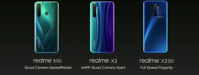 Realme X2, X2 Pro e 5 Pro