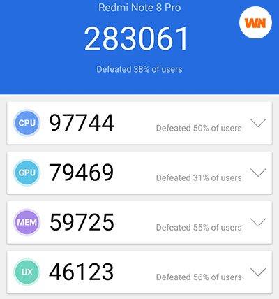 Redmi Note 8 Pro, Benchmark