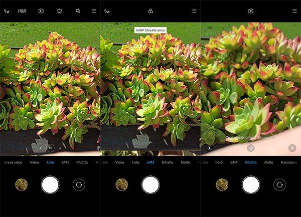 Redmi Note 8 Pro, modalità scatto