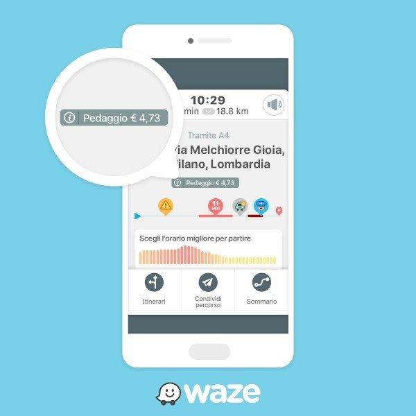 """Waze, in Italia la funzione """"Costo Pedaggio"""""""