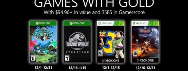 Microsoft svela i Games With Gold di dicembre 2019