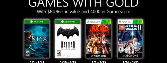 Games With Gold di gennaio 2020