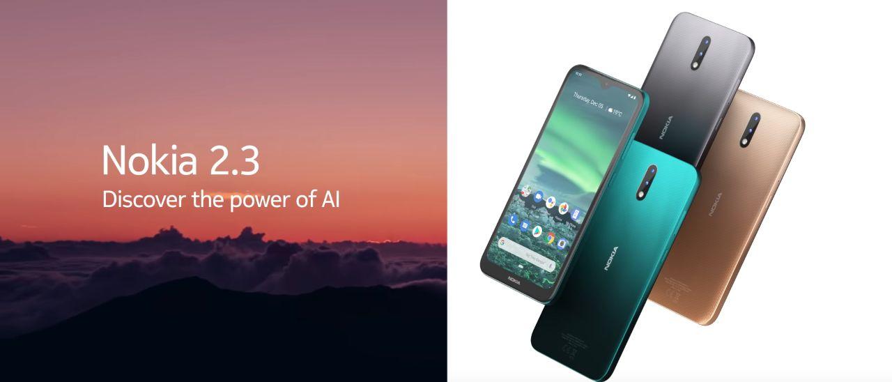 Nokia 2.3, schermo da 6,2 pollici e dual camera
