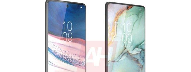 Samsung Galaxy Note 10 Lite e S10 Lite render