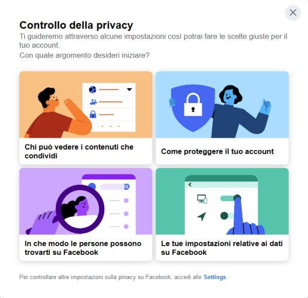 Facebook - Controllo privacy