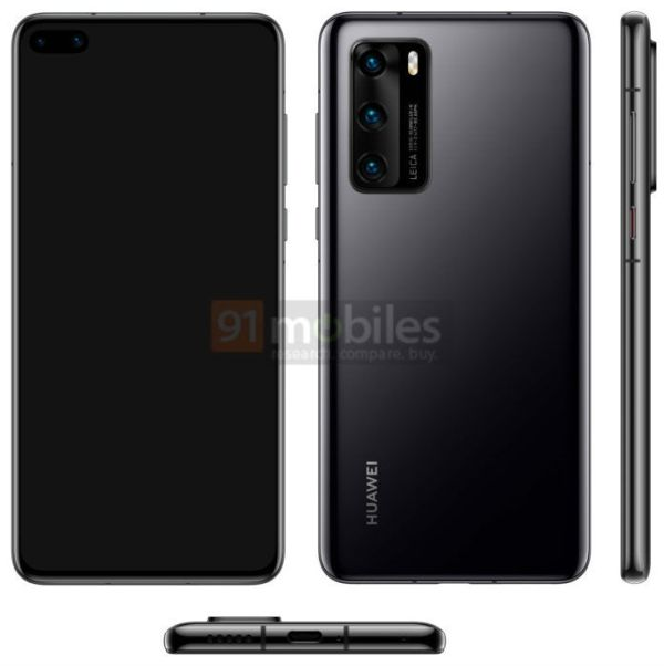 Huawei P40 render