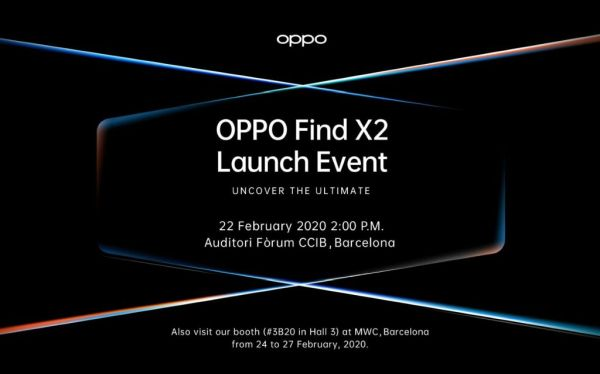 Oppo Find X2 launch invite