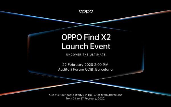 Oppo Find X2 launch invite