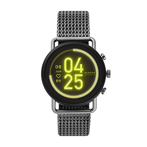 Skagen Touchscreen Smartwatch HR Falster 3 Gunmetal Gauge Mesh