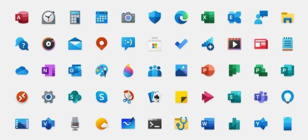 Fluent Design Windows 10 icons
