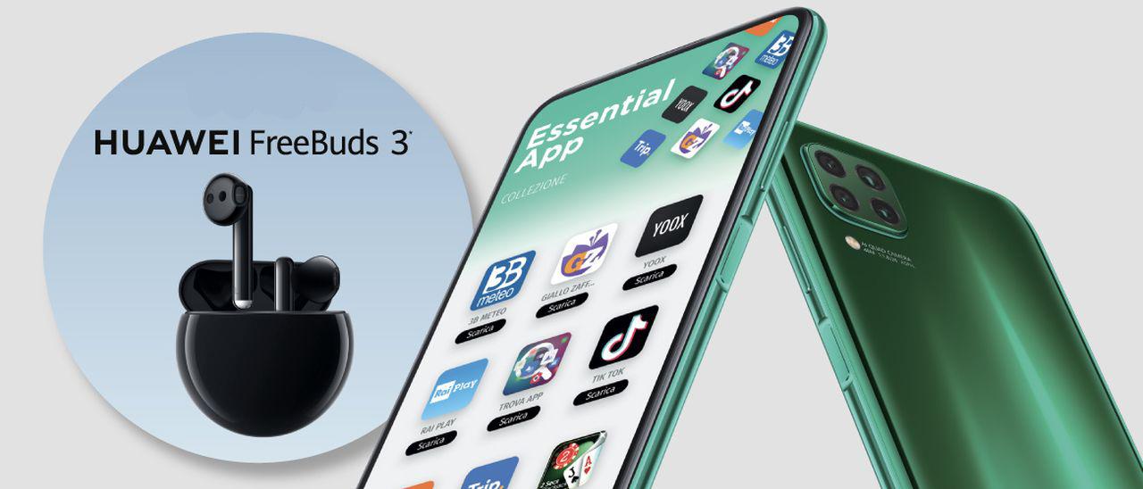 Huawei P40 Lite, auricolari FreeBuds 3 in regalo | Webnews