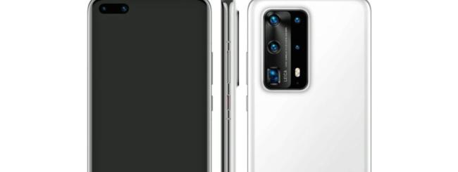 Huawei P40 Pro PE render