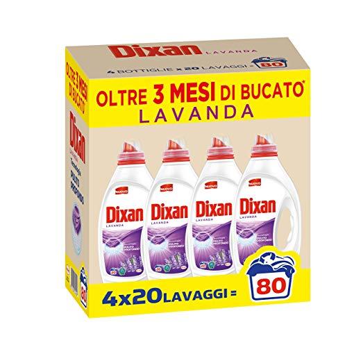 Dixan Lavanda Pulito Profondo Detersivo Liquido Lavatrice, 80 Lavaggi