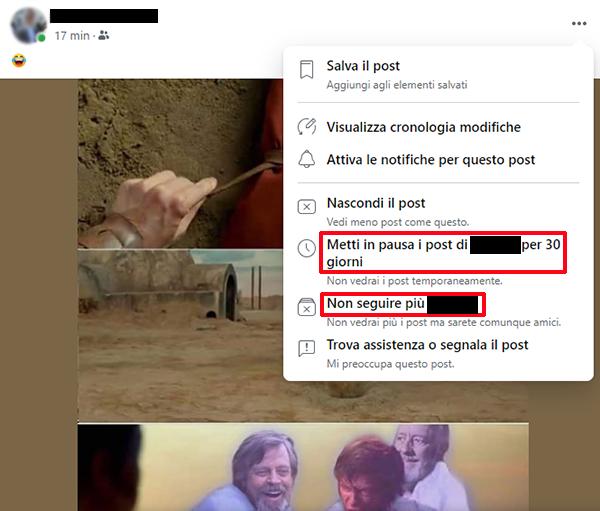 Come silenziare un amico su Facebook