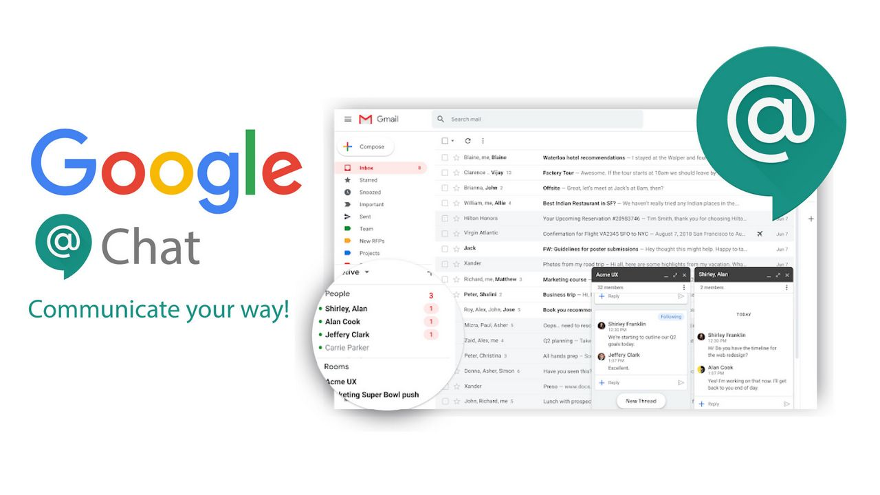 Google Chat: le nuove conversazioni di g …