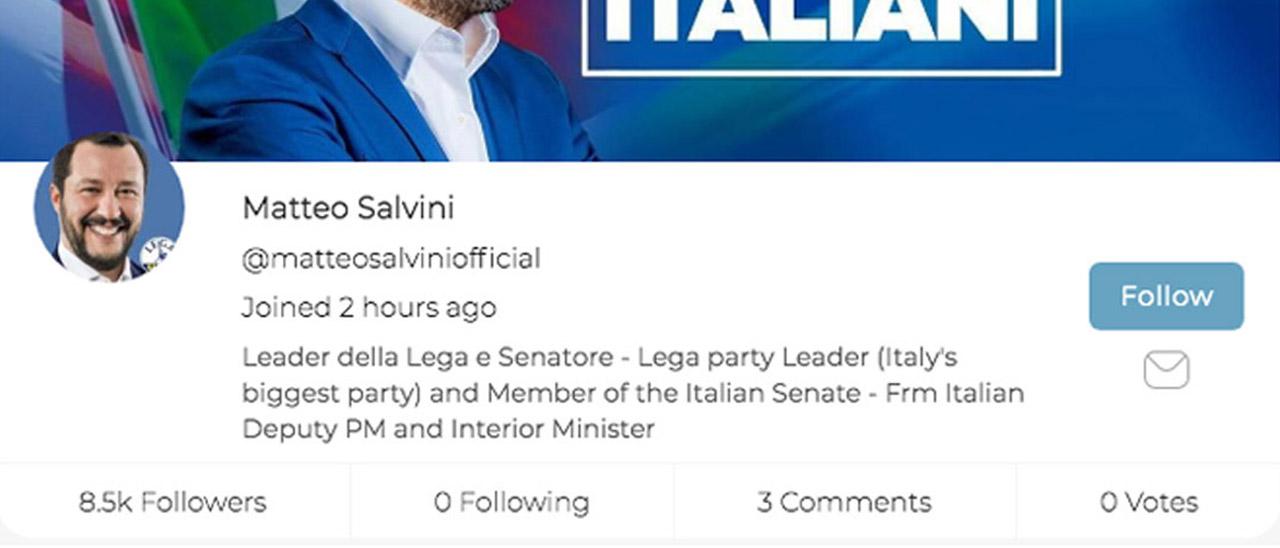 Parler ha le ore contate, ma Salvini si  …