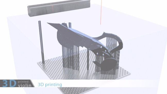 3Dvarius, il violino stampato in 3D