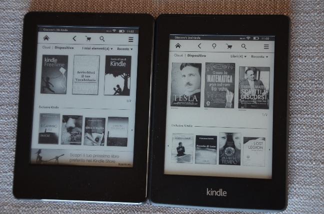 Amazon Kindle vs Amazon Kindle Paperwhite